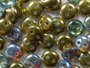 CML-00030-98536 CzechMate Lentils Crystal Golden Rainbow 40 Pc.-0