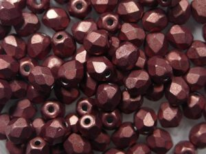FP-03-04B01 Color Trends Saturated Metallic Grenadine facet 3 mm. 50 Pc.-0