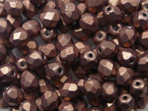 FP-03-04B10 Color Trends Saturated Metallic Autumn Maple facet 3 mm. 50 Pc.-0