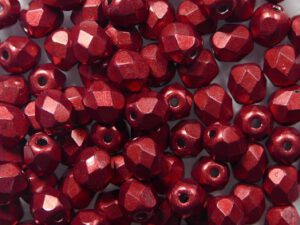 FP-03-05A08 Color Trends Saturated Metallic Cherry Tomato facet 3 mm. 50 Pc.-0