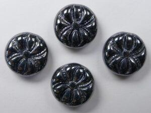 0020004 Jet Hematite Spider Beads 4 Pc.-0