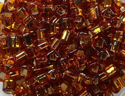 TC-03-0034 Silver Lined Smoky Topaz 3 mm Toho Cubes-0