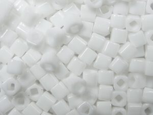 TC-03-0041 Opaque White 3 mm Toho Cubes-0
