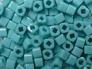 TC-03-0055 Opaque Turquoise 3 mm Toho Cubes-0