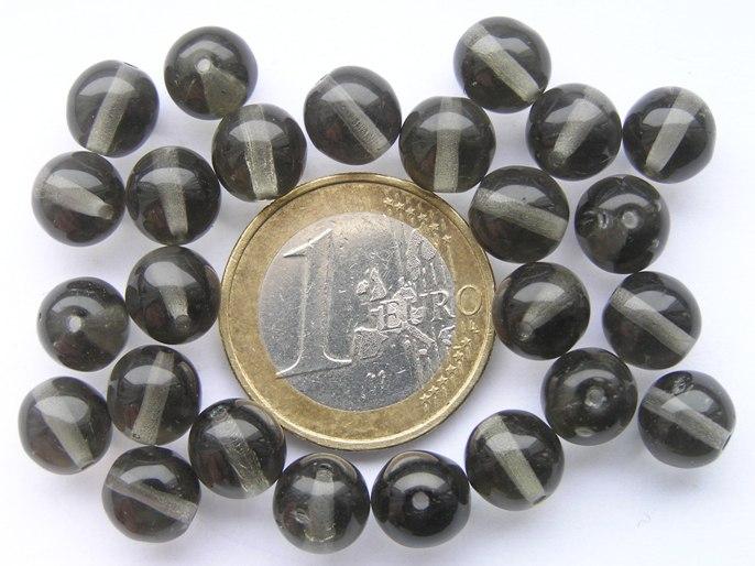 08-R-40020 Black Diamond rond 8 mm. 25 Pc.-0