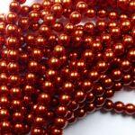 04-132-19001-10182 Shiny Burnt Orange Glass Pearl 120 pc-0