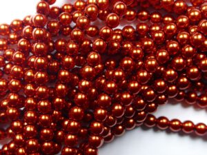 04-132-19001-10182 Shiny Burnt Orange Glass Pearl 120 pc-0