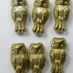 OWL-00030-26443 Owl Bead Full Amber 12 Pc.-0