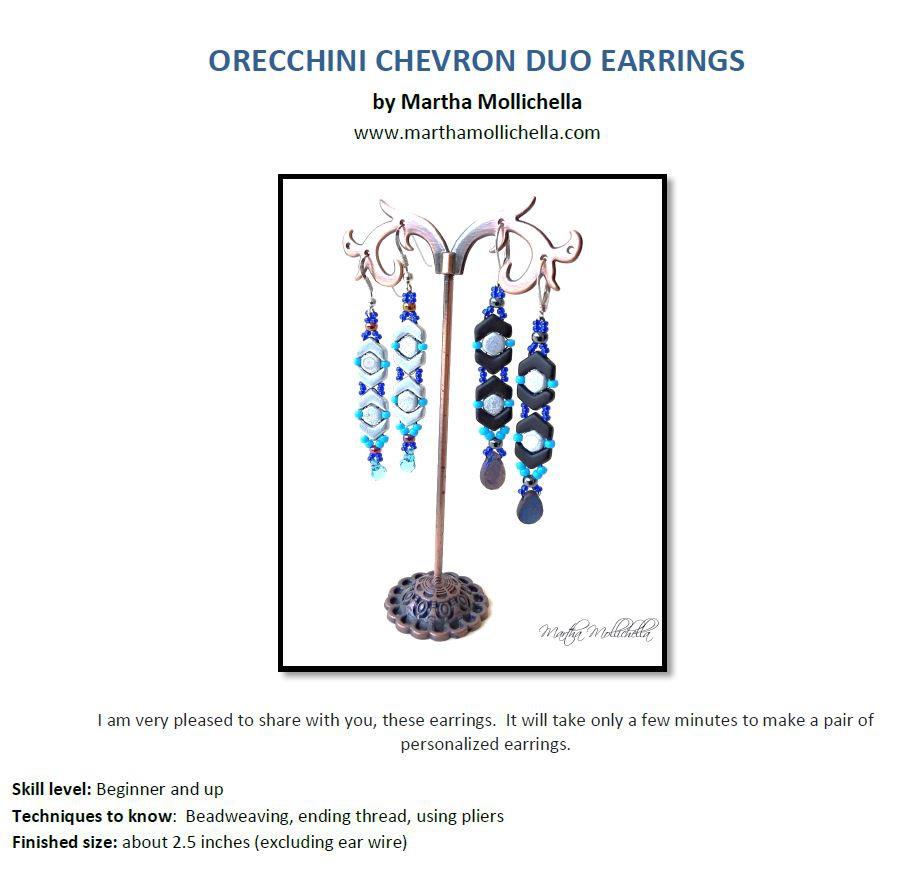 Orecchini Earrings: Gratis Patroon bij Chevron or Honeycomb-0