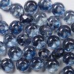 0090005 Crystal Blue Luster Donut facet, 7 x 5 mm. 20 stuks-0