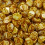 PI-03000-86805 Chalk White Dark Travertin Pinch Beads 10 gram-0