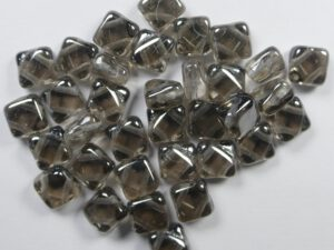 SL-00030-27200 Silky Bead Crystal Vacuum Hematite Full 30 Pc.-0