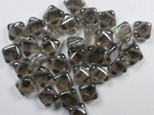 SL-00030-27200 Silky Bead Crystal Vacuum Hematite Full 30 Pc.-0