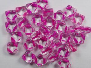 SL-00030-44877 Silky Bead Crystal Pink Lined 30 Pc.-0