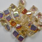 SL-00030-98531 Silky Bead Crystal Yellow Rainbow 30 Pc.-0