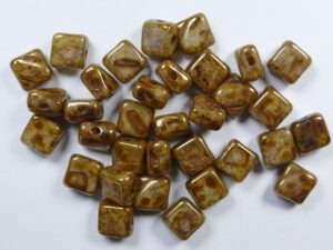 SL-13010-15695 Silky Bead Ivory Lila Gold Luster 30 Pc.-0