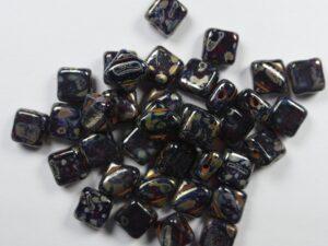 SL-90100-43400 Silky Bead Ruby Silver Picasso 30 Pc.-0