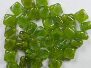 SL-99992 Silky Bead White Opal Mixed Green 30 Pc.-0