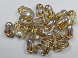 0150178 Bloem kelk Crystal AB met goud 25 stuks-0
