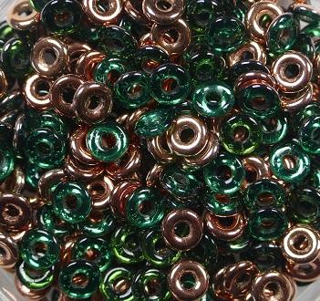 O-50730-27101 Emerald Capri Gold O bead ® 5 gram.-0
