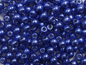 03-R-04B05 Colortrends Saturated Metallic Navy Peony Round 3 mm. 100 stuks-0