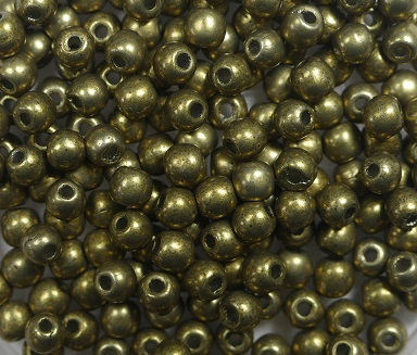 03-R-04B08 Colortrends Saturated Metallic Golden Lime Round 3 mm. 100 stuks-0