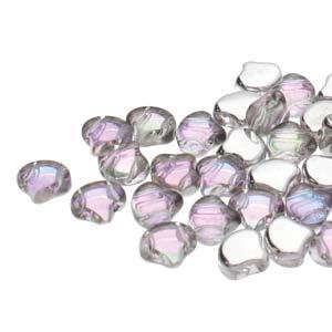 GIN-00030-26536 Matubo 2 Hole Ginko Bead Backlit Pink Mist 10 gram-0