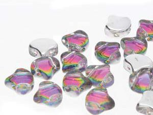GIN-00030-29436 Matubo 2 Hole Ginko Bead Backlit Spectrum 10 gram-0