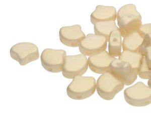 GIN-02010-29704 Matubo 2 Hole Ginko Bead Chatoyant Light Gold 10 gram-0