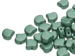 GIN-23980-79051 Matubo 2 Hole Ginko Bead Metallic Suede Light Green 10 gram-0