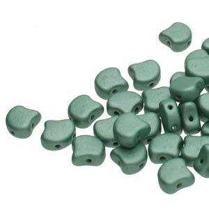 GIN-23980-79051 Matubo 2 Hole Ginko Bead Metallic Suede Light Green 10 gram-0