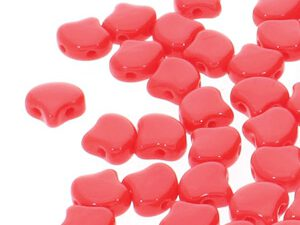 GIN-93200 Matubo 2 Hole Ginko Bead Opaque Red 10 gram-0