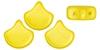 GIN-02010-29708 Matubo 2 Hole Ginko Bead Chatoyant Yellow 10 gram-0