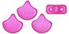 GIN-02010-29714 Matubo 2 Hole Ginko Bead Chatoyant Hot Pink 10 gram-0