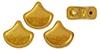 GIN-83120LK Matubo 2 Hole Ginko Bead Luster Metallic Lemon 10 gram-0