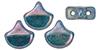 GIN-63130-15001 Matubo 2 Hole Ginko Bead Nebula Turquoise 10 gram-0