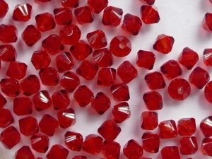 03-MC-90090 Bicone Siam Ruby 3 mm. 50 Pc.-0