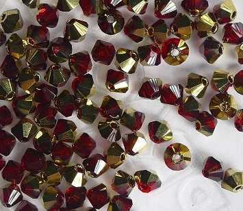03-MC-90100-26441 Bicone Burgundy Red Brass 3 mm. 50 Pc.-0