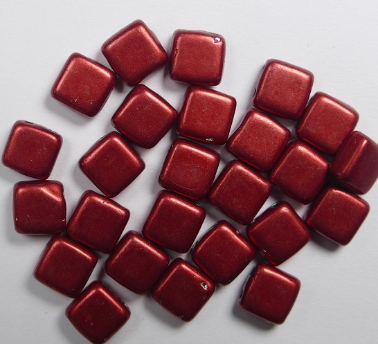 CMT-05A08 CzechMates Tile Bead Color Trends Saturated Metallic Cherry Tomato 25 st.-0