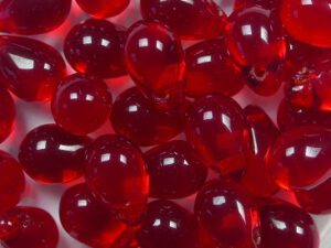 CD-6x9-90080 Siam Ruby Czech Glass Drops 40 stuks-0