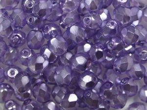 0080701 Crystal Pearl Lavender facet 4 mm. 50 Pc.-0