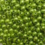 03-R-05A09 Colortrends Saturated Metallic Lime Punch Round 3 mm. 100 stuks-0