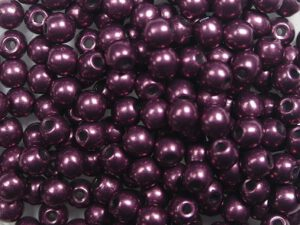 03-R-06B01 Colortrends Saturated Metallic Red Pear Round 3 mm. 100 stuks-0