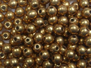 03-R-06B04 Colortrends Saturated Metallic Ceylon Yellow Round 3 mm. 100 stuks-0
