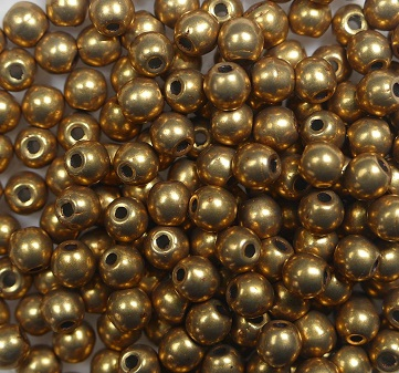 03-R-06B04 Colortrends Saturated Metallic Ceylon Yellow Round 3 mm. 100 stuks-0