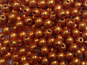 03-R-06B06 Colortrends Saturated Metallic Russet Orange Round 3 mm. 100 stuks-0