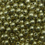 03-R-06B09 Colortrends Saturated Metallic Limelight Round 3 mm. 100 stuks-0