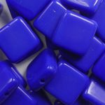 0090401 square bead 9×9 mm opaque royal blue