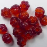 0050286 czech glass melon bead opal red