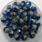 0090414 czech glass antique style cathedral 8×6 mm capri blue picasso